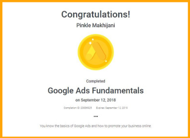 Google Certificate of Fundamentals