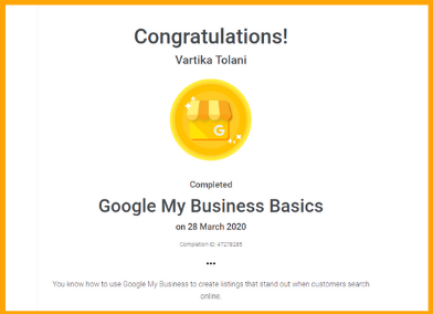 Google Certified Course in India