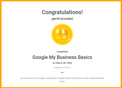 Google My Business Basics Certified Course